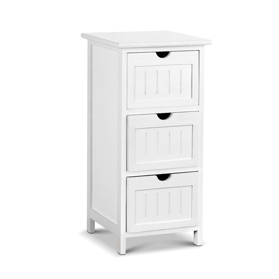Artiss 3 Drawer Dresser - White