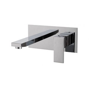 Square Chrome Wall Bath/Basin Mixer Tap