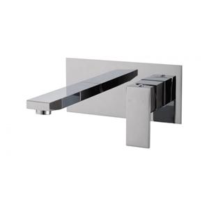 Square Chrome Wall Bath/Basin Mixer Tap