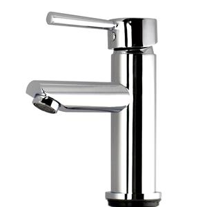 Round Chrome Basin Mixer Tap Brass Fauce