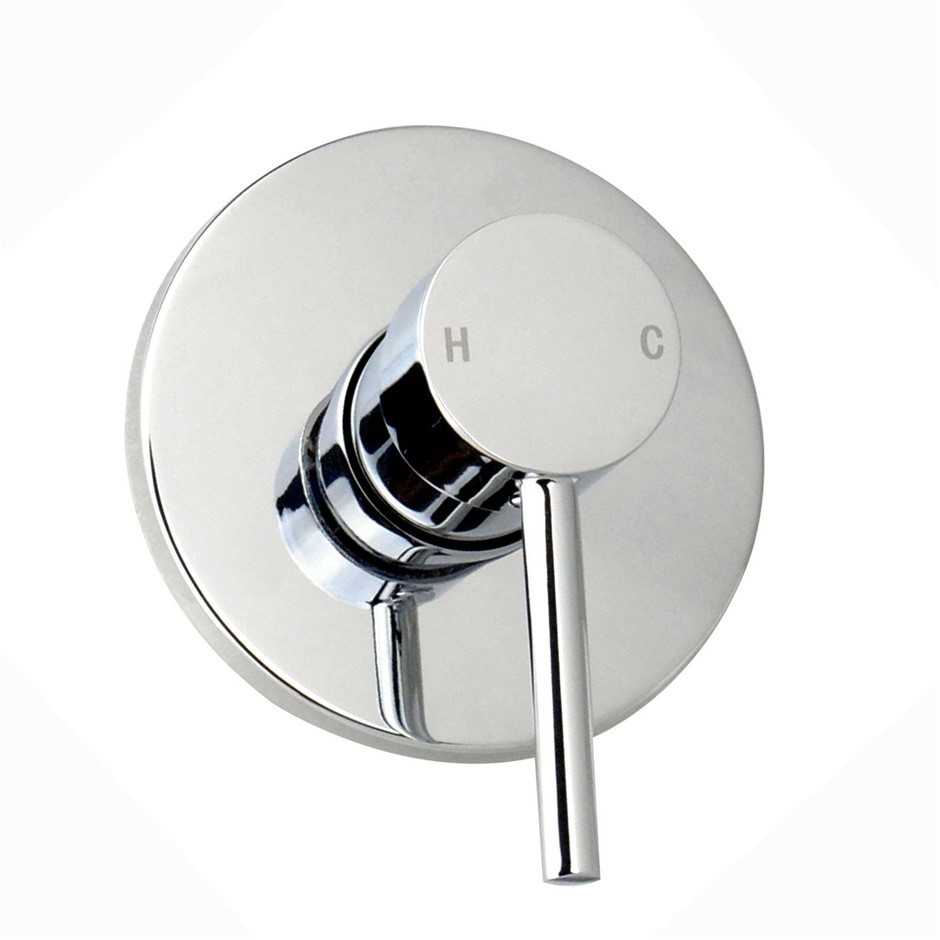 Round Chrome Built-in Shower Mixer(Brass), Watermark Certificate