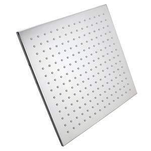 "12"" Square Chrome LED Rainfall Shower He"
