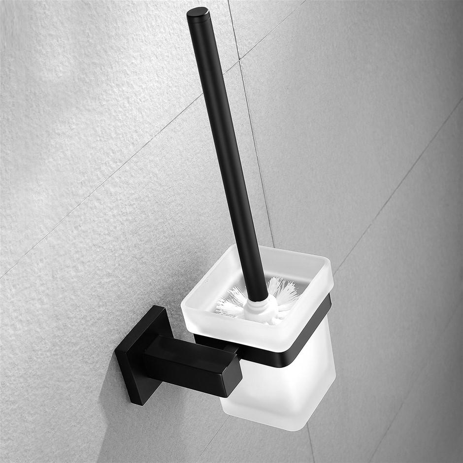 Square Black 304 Stainless Steel Toilet Brush And Holder