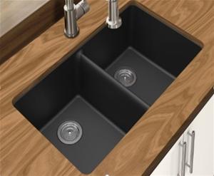 Double Bowl,Black Granite Quartz Stone K