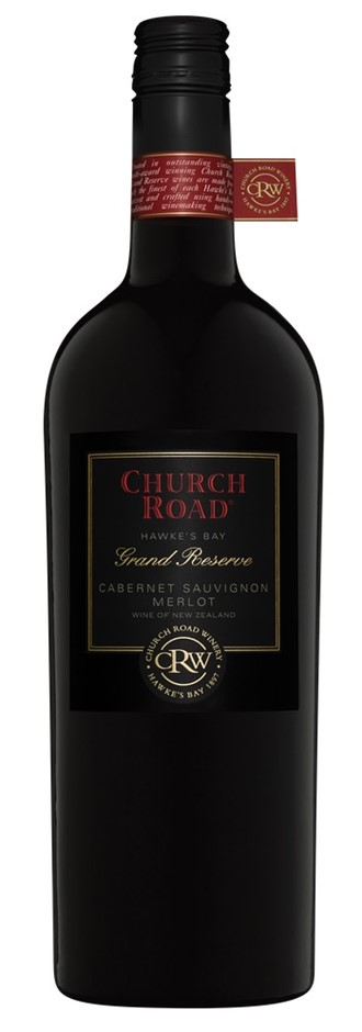 Church Road 'Grand Reserve' Cabernet Merlot 2014 (6 x 750mL) Hawkes Bay NZ