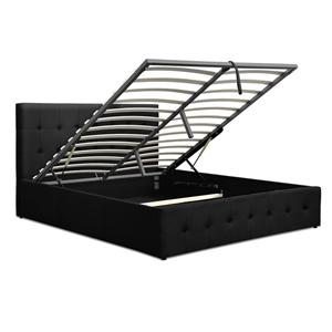 Artiss Gas Lift Queen Bed Frame -Charcoa