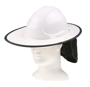 6cf8d101adf 12 x SNAP BRIM Rigid Hard Hat Sunshades with Cotton Drill Neck Flap ...