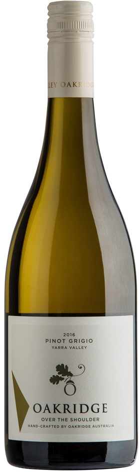Oakridge Over the Shoulder Pinot Grigio 2017 (6 x 750mL), Yarra Valley.
