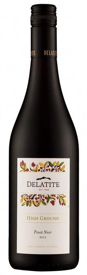 Delatite `High Ground` Pinot Noir 2018 (12 x 750mL),VIC.