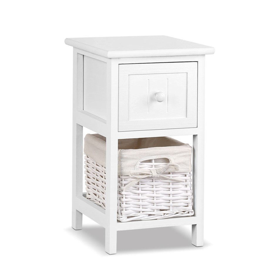 Artiss Set of 2 Claire Bedside Table - White