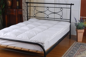 100% White Duck Feather Mattress Topper