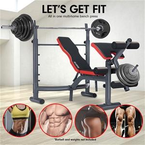 Buy Powertrain Home Gym Workout Bench Press Preachers Curl Incline