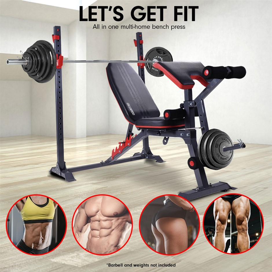 Powertrain Home Gym Workout Bench Press Incline Preachers Curl - 301