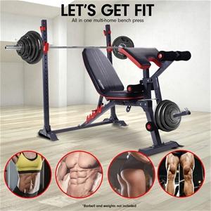 Buy Powertrain Home Gym Workout Bench Press Incline Preachers Curl