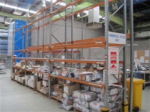 3 bays of dexion pallet racking comprising auction 0005 for 3 bays