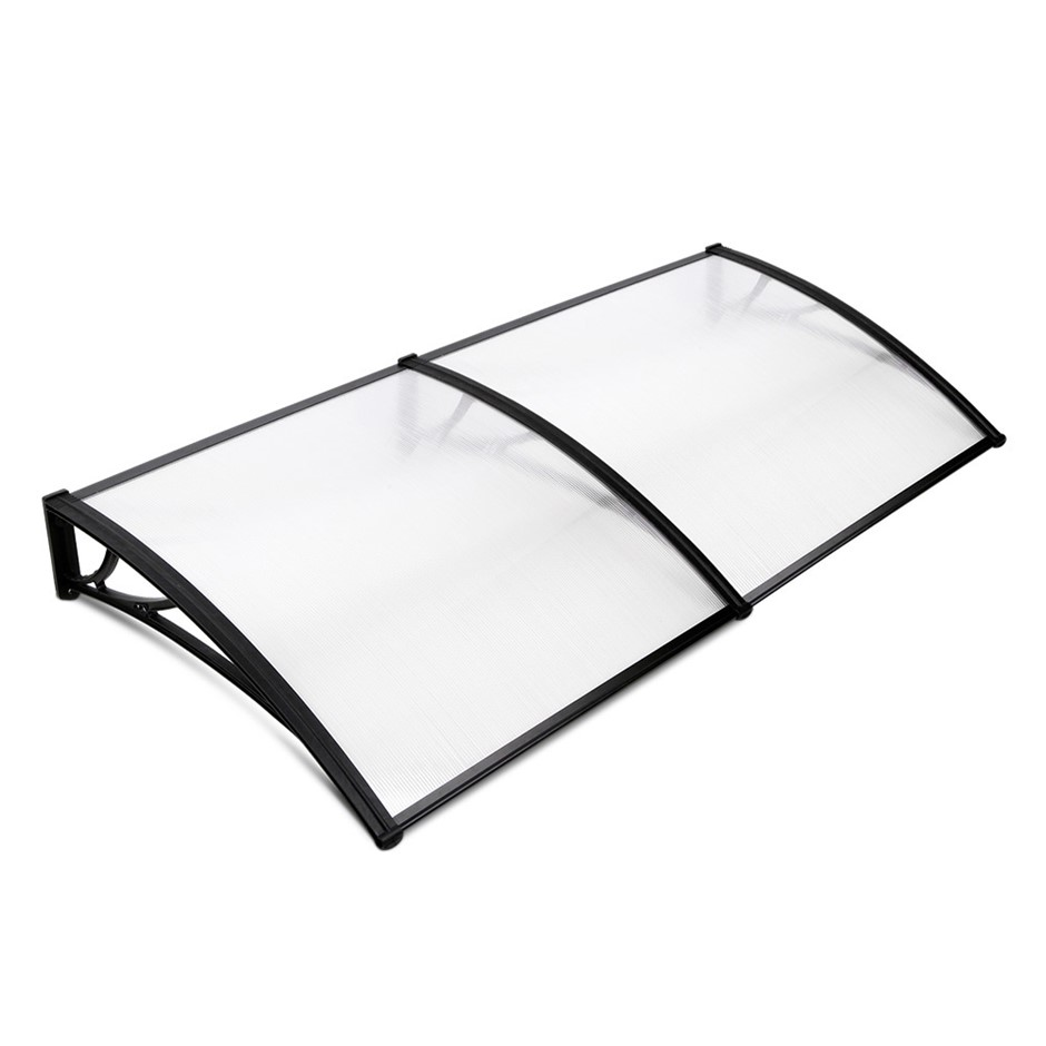 1m x 2.4m DIY Window Door Awning Canopy Patio UV Sun Shield