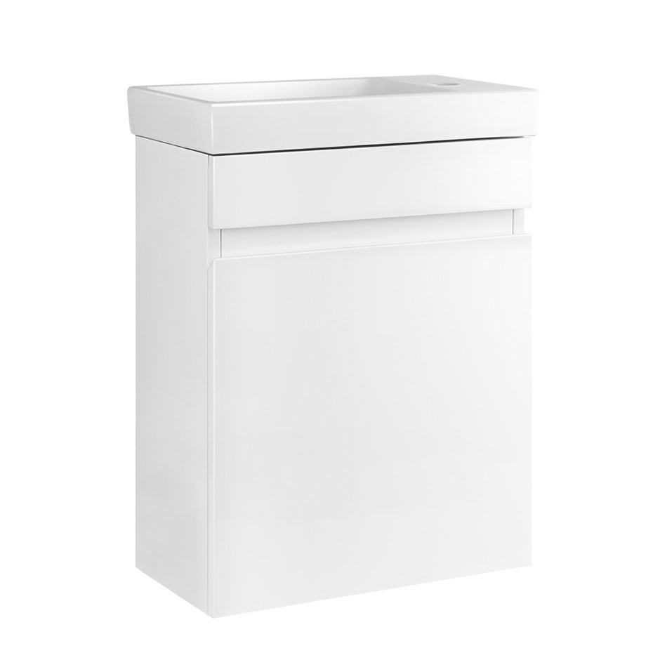 Bathroom Vanity Unit Wall Hung Hand Wash Ceramic Basin Cabinet