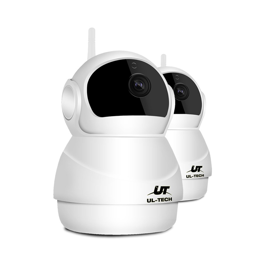 UL-TECH 1080P X2 Wireless IP Camera CCTV Security System Baby Monitor White