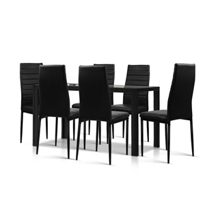 7-Piece Set Dining Table and 6 Chairs Se