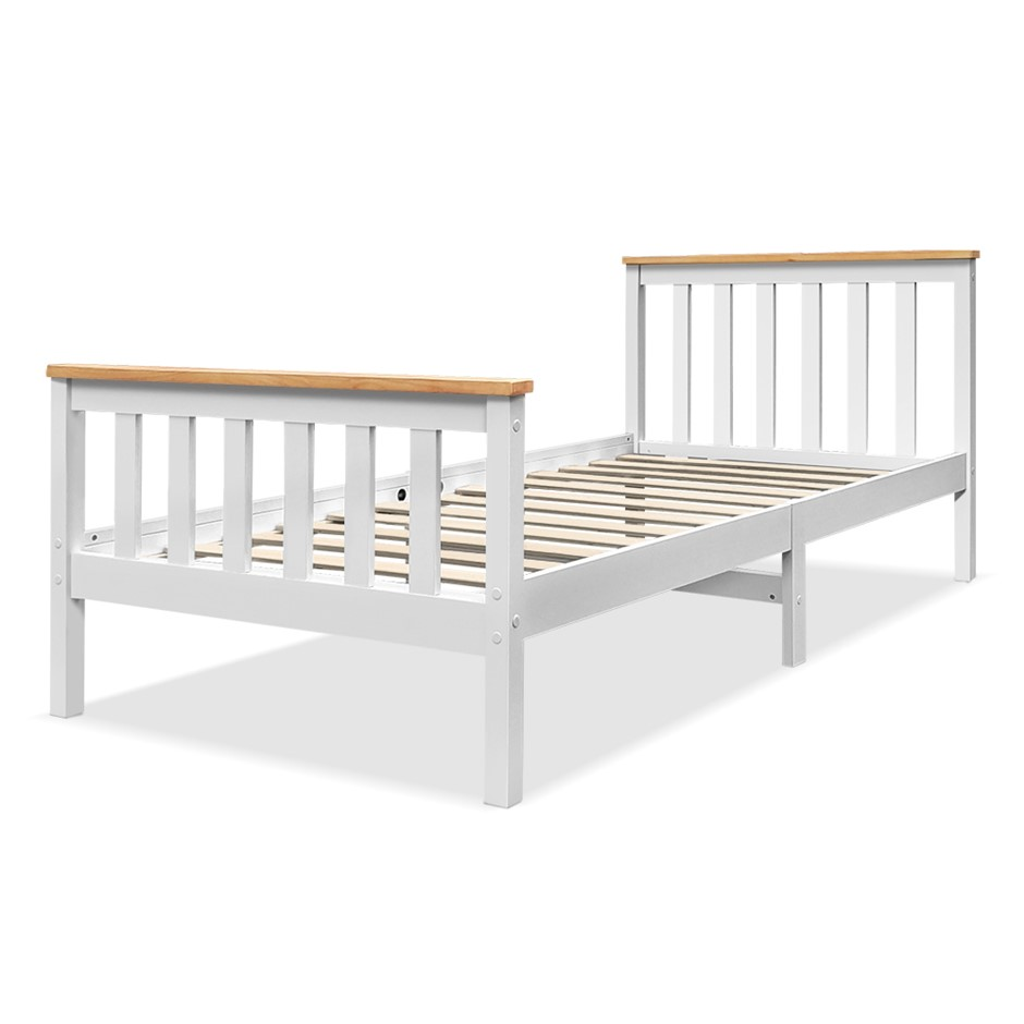 Artiss Single Wooden Bed Frame PONY Mattress Base Bedroom Furniture Kids