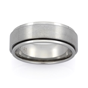 Gents Stainless Steel Ring - Ring Size :