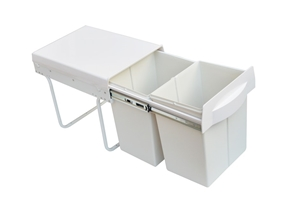 Pull Out Bin Kitchen Double Dual Slide G