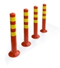 4x Plastic Traffic Bollard Barrier Post Crowd Control Safety