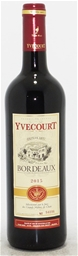 Cellier Yvecourt Bordeaux AOC Rouge 2015 (6 x 750mL) Bordeaux