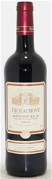 Richaumont Bordeaux Rouge 2016 (6 x 750mL) Bordeaux France