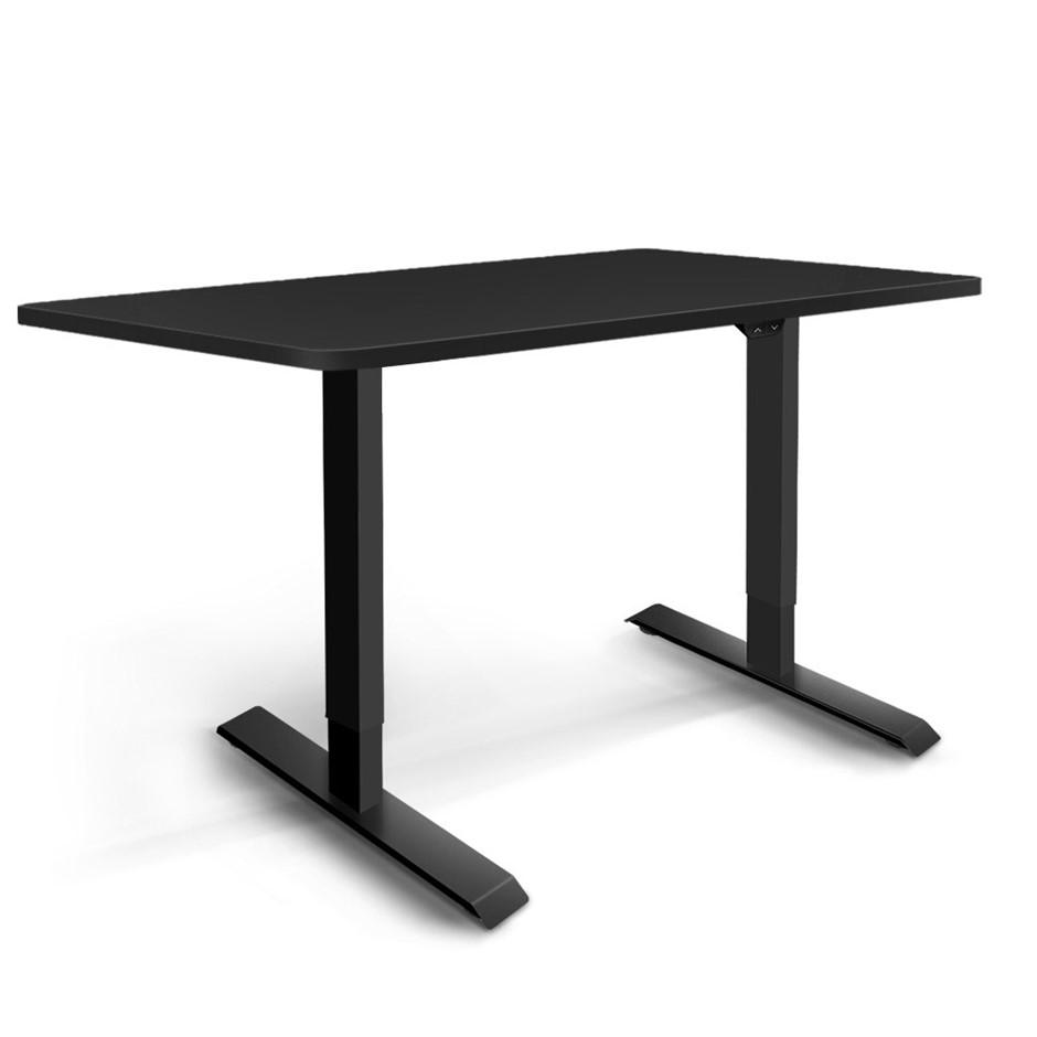 Artiss Motorised Electric Height Adjustable Standing Desk Computer Black