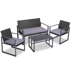 Gardeon 4pc Patio Furniture Wicker Garde