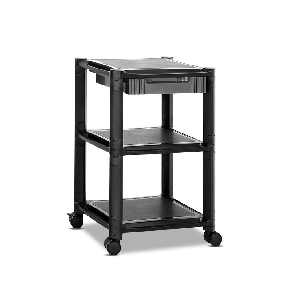 Artiss Mobile Printer Stand Shelf Adjustable Rack Rolling Cart Office