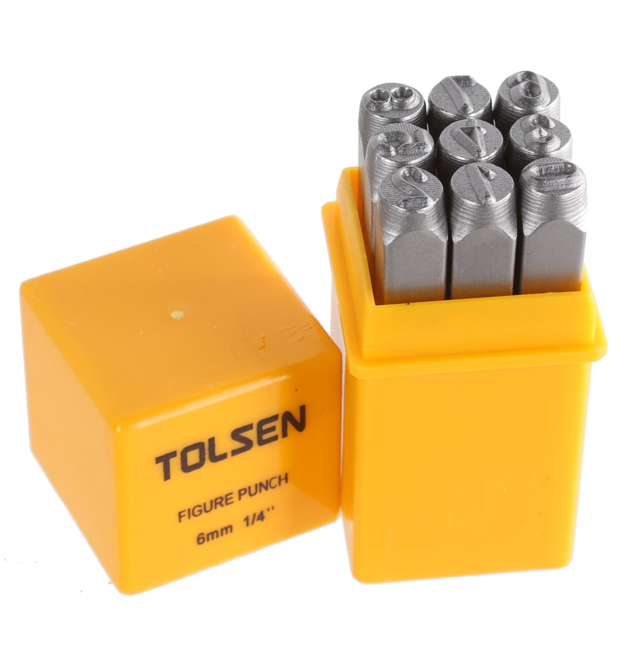 2 x TOLSEN 9pc Figure Punch Sets 6mm. Buyers Note - Discount Freight Rates