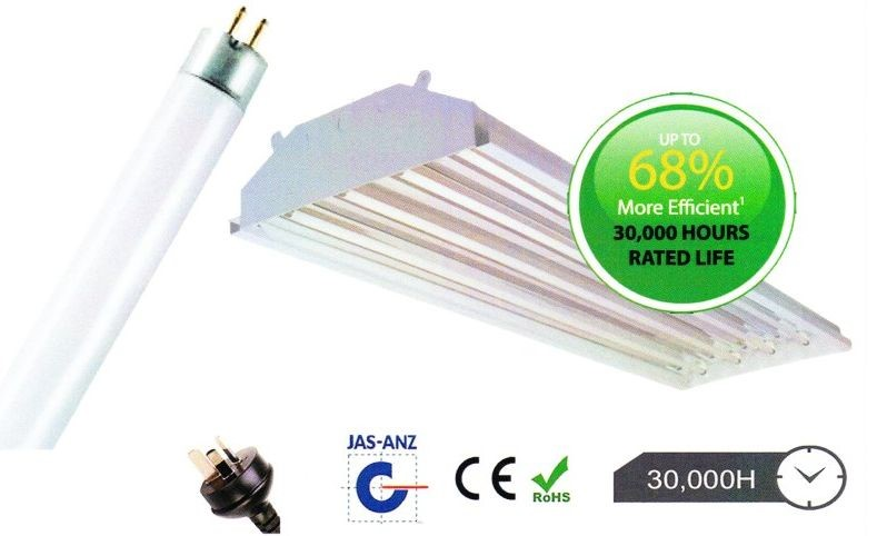 1 x Linear High Bay Fluorescent Lighting Kit (Bay and 3 x Fluro Tubes)