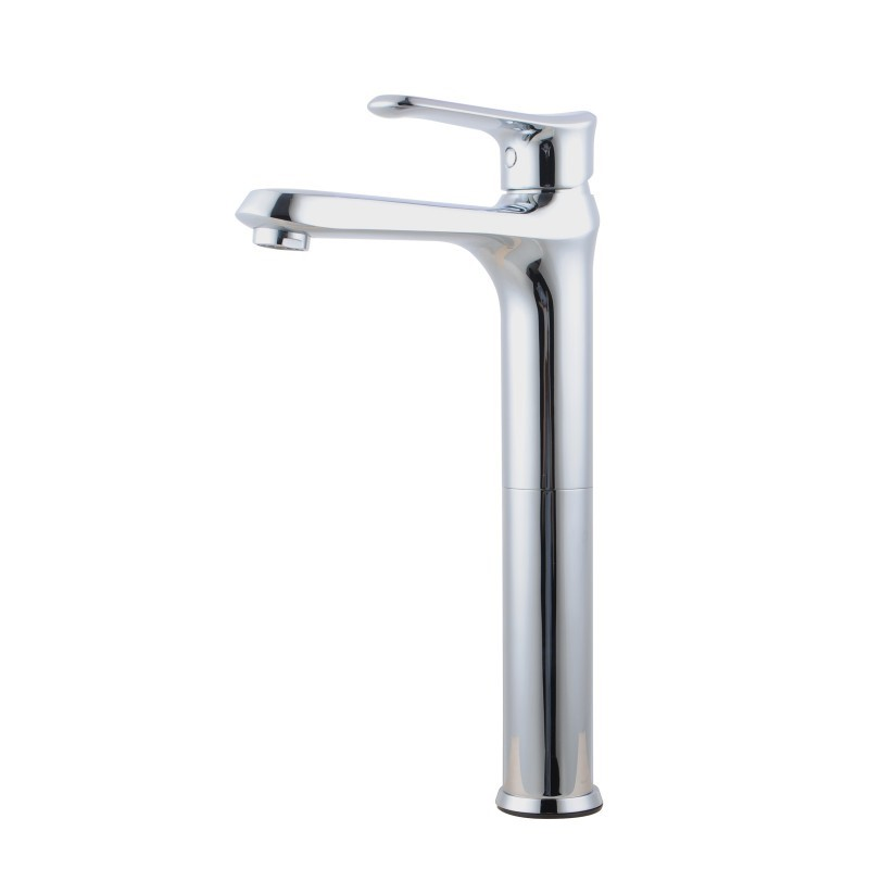Bathroom Brass Chrome Tall Basin Mixer Tap