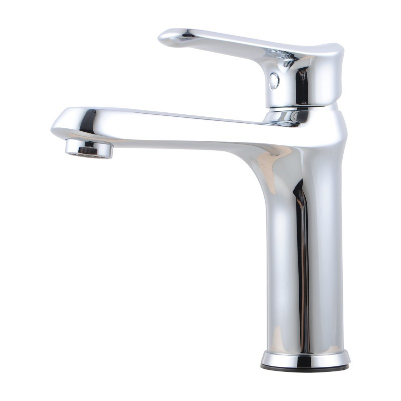 Bathroom Brass Chrome Short Basin Mixer Tap
