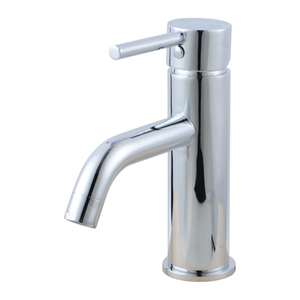 Round Chrome Short Basin Mixer Tap Crook