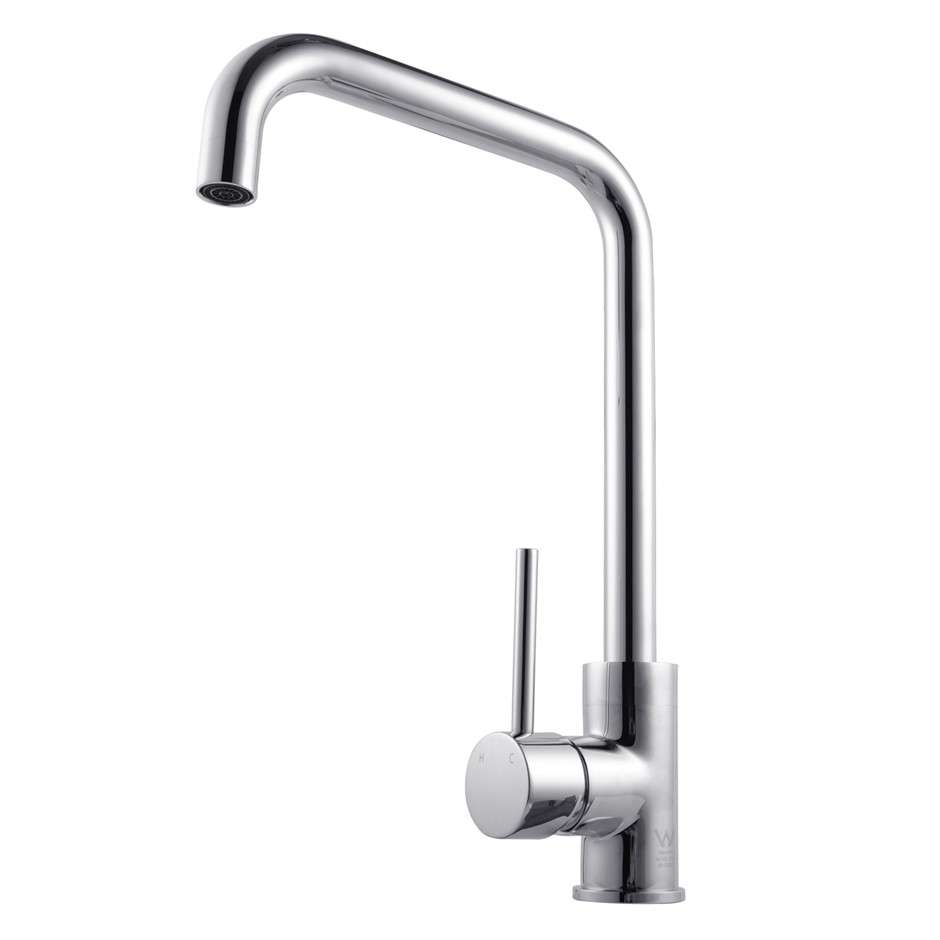Round Chrome Swivel Kitchen Sink Mixer Tap