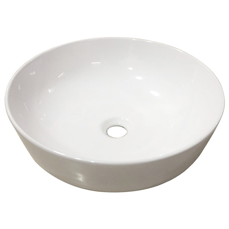 415 x 415 x 135mm Bathroom Round Above Counter White Ceramic Wash Basin