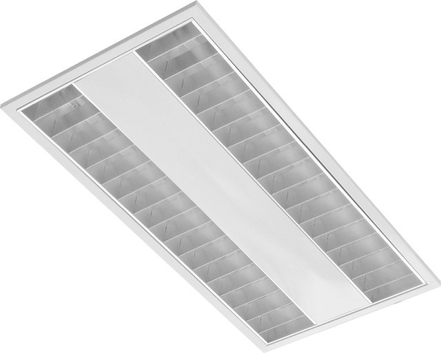 4 x Orien 2x14 Recessed Mounting Louvred Diffuser - Overhead Lighting