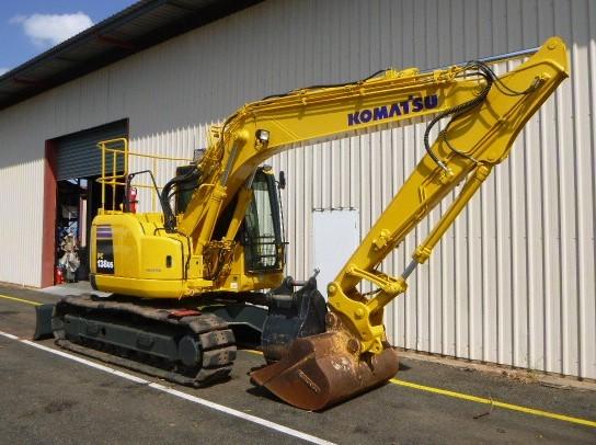 Komatsu PC138US-8 Excavator with attachments (Yarrawonga, NT)