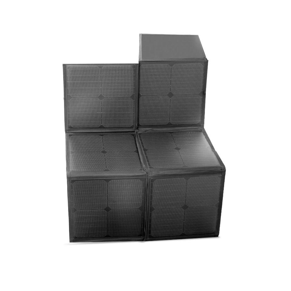 12V 120W Flexible Folding Solar Panel Blanket Kit Mono Camping Power Supply