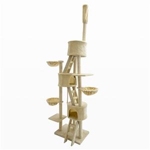 Cat Tree Scratcher PARADISE 260cm - BEIG