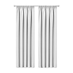 Artqueen 2x Pleated Blockout Curtains Bl