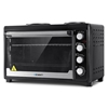 Devanti Electric Oven Bake Benchtop Rotisserie Grill 60L Hotplate Black