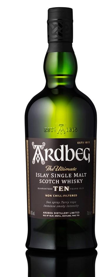 Ardbeg 10 YO Single Malt Scotch Whisky (6 x 700mL), Islay.