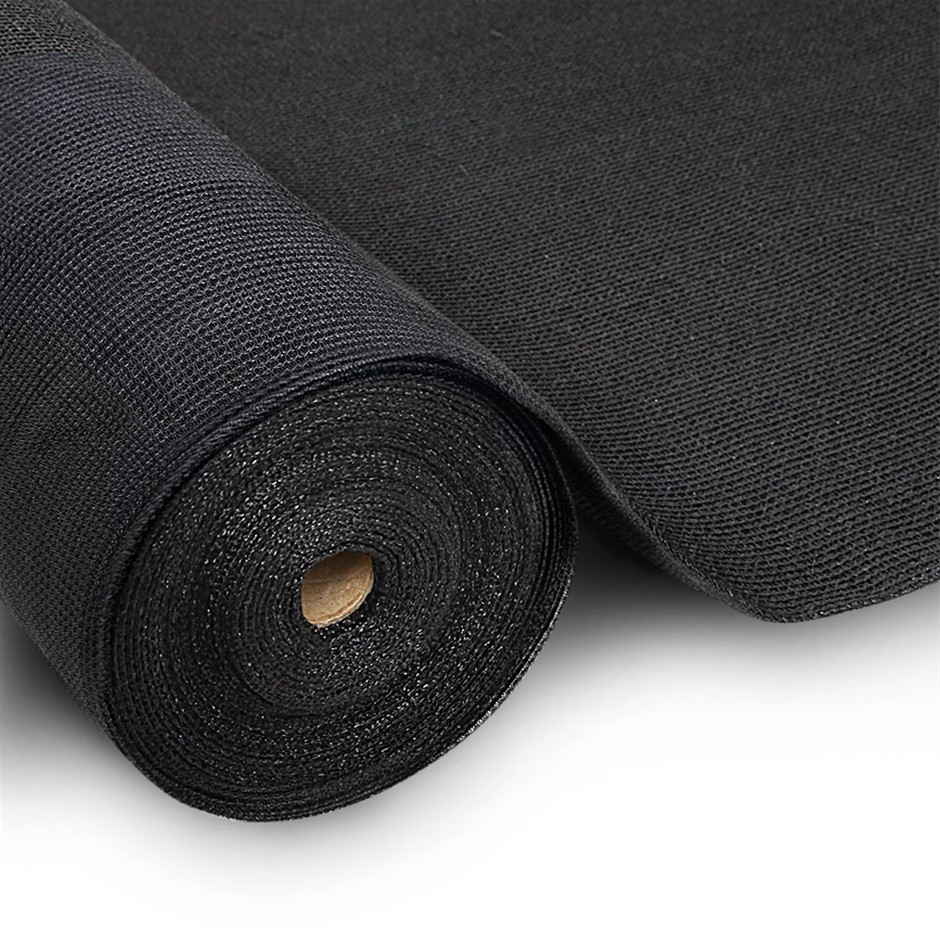Instahut 3.66x10m 50% UV Shade Cloth Outdoor Black