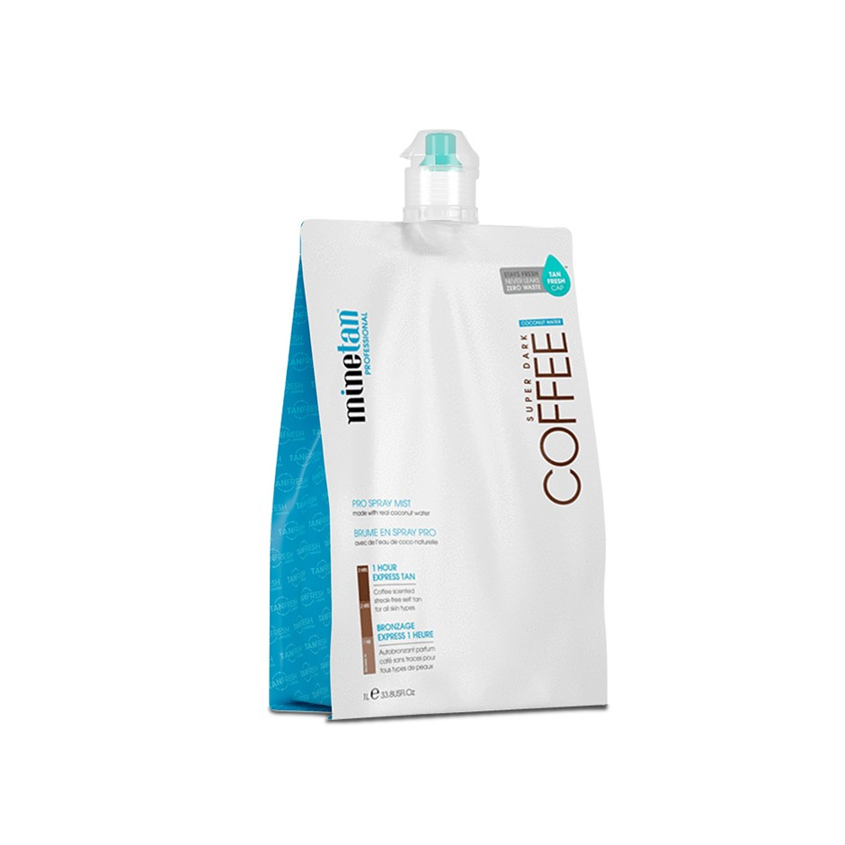 MineTan Spray Tan Solution Coconut 14% DHA 1L Spray Tan