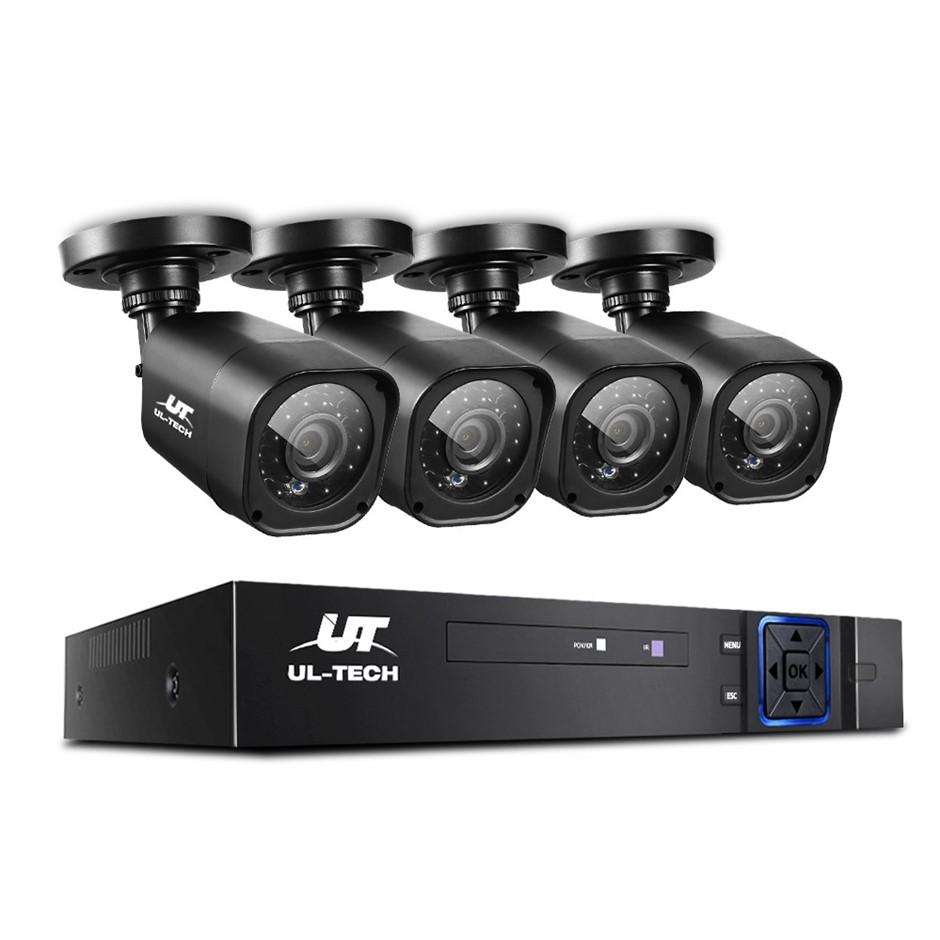 CCTV Security 4 Cameras 1080P HDMI 4CH DVR Video Home Outdoor IP System