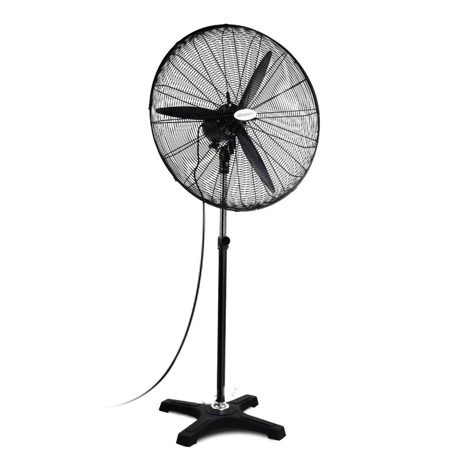 Devanti Adjustable Industrial Standing Fan - Black